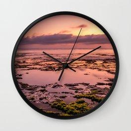 Magic sunset at Nyang Nyang beach in Bali Wall Clock