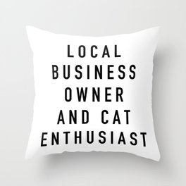 Cat Enthusiast Throw Pillow