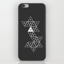 Unrolled D20 iPhone Skin