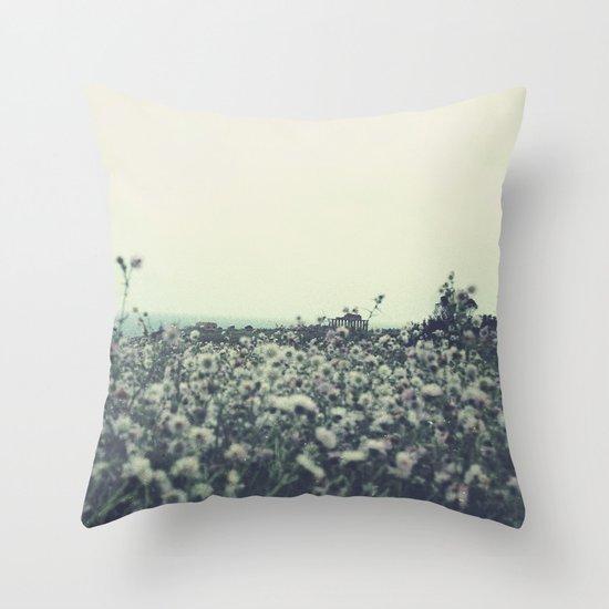 Sicily flowers Throw Pillow