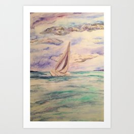 sailing ship lake constance Art Print