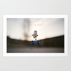 Skate and Destroy Art Print