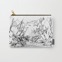 Calm Creek in a Thick Forest Carry-All Pouch