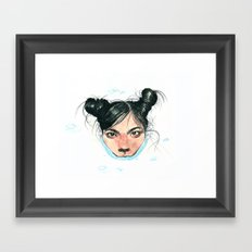 Bjørk in Milk Framed Art Print