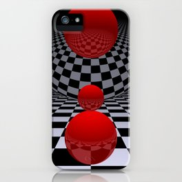 red-white-black -2- iPhone Case