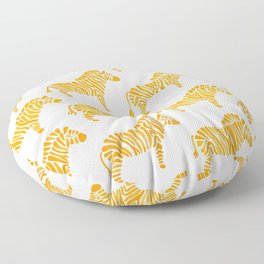 Zebras – Yellow Palette Floor Pillow