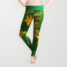 Day-glo Lilies Leggings