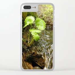Green trickle Clear iPhone Case