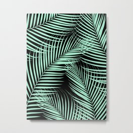Palm Leaves - Mint Cali Vibes #1 #tropical #decor #art #society6 Metal Print