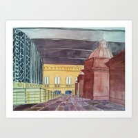 Atocha Rail Station Madrid Art Print