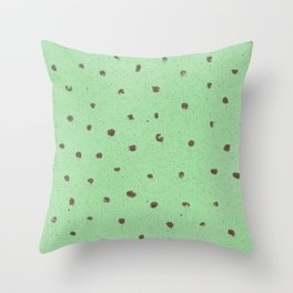 Mint Chocolate Chip Throw Pillow