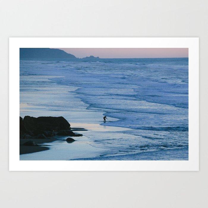 Ocean Beach Coastline Art Print