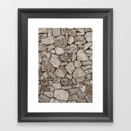 Old Rustic Stone Wall Framed Art Print