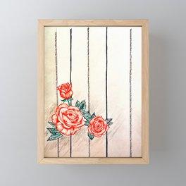 Prohibited roses II Framed Mini Art Print