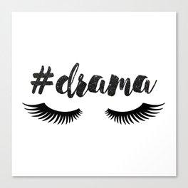 #Drama | Lashes Canvas Print