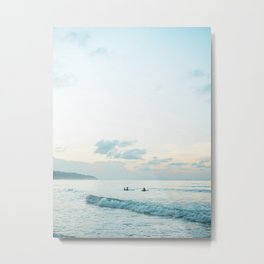 Once your board hits the water  | Surf travel photography print Metal Print