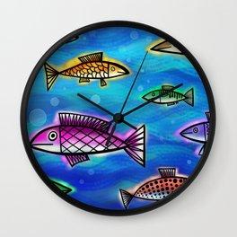 Underwater Fish Wall Clock