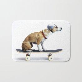 Skate Punk - Skateboarding Chihuahua Dog inTiny Helmet Bath Mat