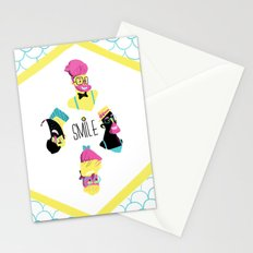 Hipster Smile Stationery Cards