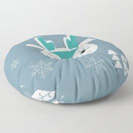 Cute deer winter pattern Floor Pillow