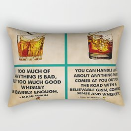 Bartender Whiskey Is Calling And I Must Go . Vintage poster art illustration. Rectangular Pillow