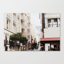 SF Side Streets Canvas Print