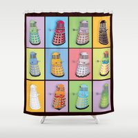 dalek Shower Curtains featuring Dalek Dreams by Megs stuff