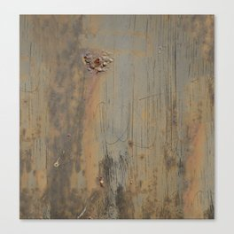 Disgusting Grungy Rusty Wounded Painted Metal Canvas Print