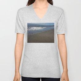 Black sand beach, El Salvador 2 Unisex V-Neck