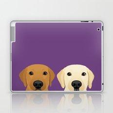 Tan Lab & Yellow Lab Laptop & iPad Skin