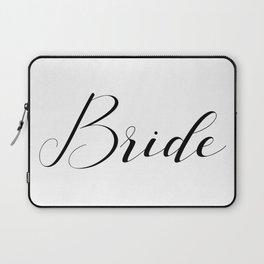Bride - Black on White Laptop Sleeve