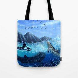 Blue Harmony Tote Bag