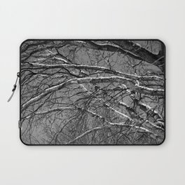 Bare winter tree with snow-laden boughs Laptop Sleeve