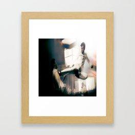 Ip Man Flying Kick Framed Art Print