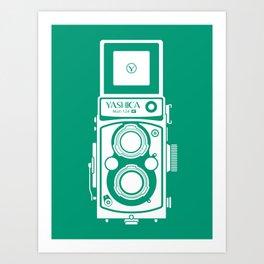 Yashica Mat 124G Camera Emerald Art Print