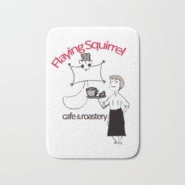Flyig Squirrel Cafe Bath Mat