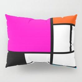 Mondrian Pink Pillow Sham