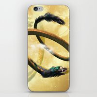 dragon iPhone & iPod Skins featuring Dragon by nicky2342