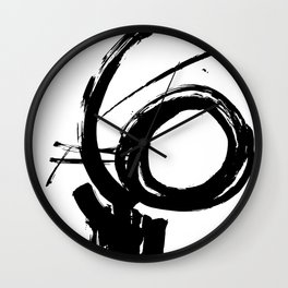 Brushstrokes No.9 by Kathy Morton Stanion Wall Clock