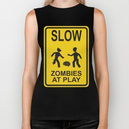 Slow Zombies at Play Biker Tank