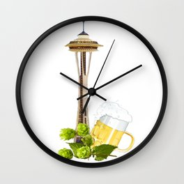 Seattle Craft Beer Wall Clock