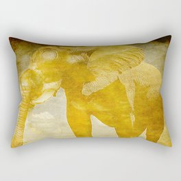 The elephant under a sandstorm Rectangular Pillow