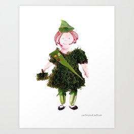 Girl Sprout Art Print