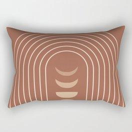Mid Century Modern Geometric 10 (Moon phases) Rectangular Pillow