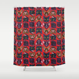 Bats! Cats! Rats! Shower Curtain