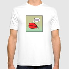 OOPS 2 MEDIUM Mens Fitted Tee White