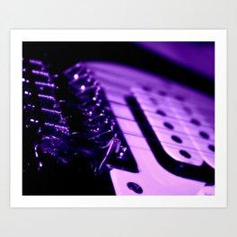 Guitar in Purple fine art photography Art Print