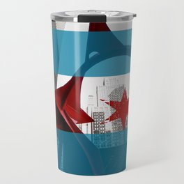 Flamingo Chicago Flag Travel Mug