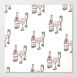 PATTERN II Rosé & Sparkling Wine Canvas Print