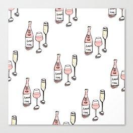 PATTERN II Rosé & Sparkling Wine Canvas Print